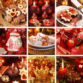 Merry Christmas collage — 图库照片