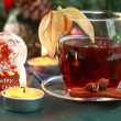 Hot drink for winter and Christmas - Stock Photo