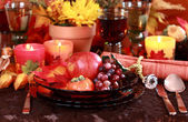 Place setting for Thanksgiving — Stock Photo