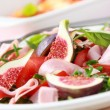 Stock Photo: Vegetable salad with fresh figs