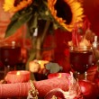 Place setting for Thanksgiving — Stockfoto