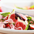 Vegetable salad with fresh figs - Foto Stock