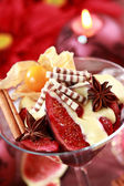 Christmas dessert — Stock Photo
