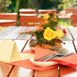 Outdoor restaurant — Stock Photo
