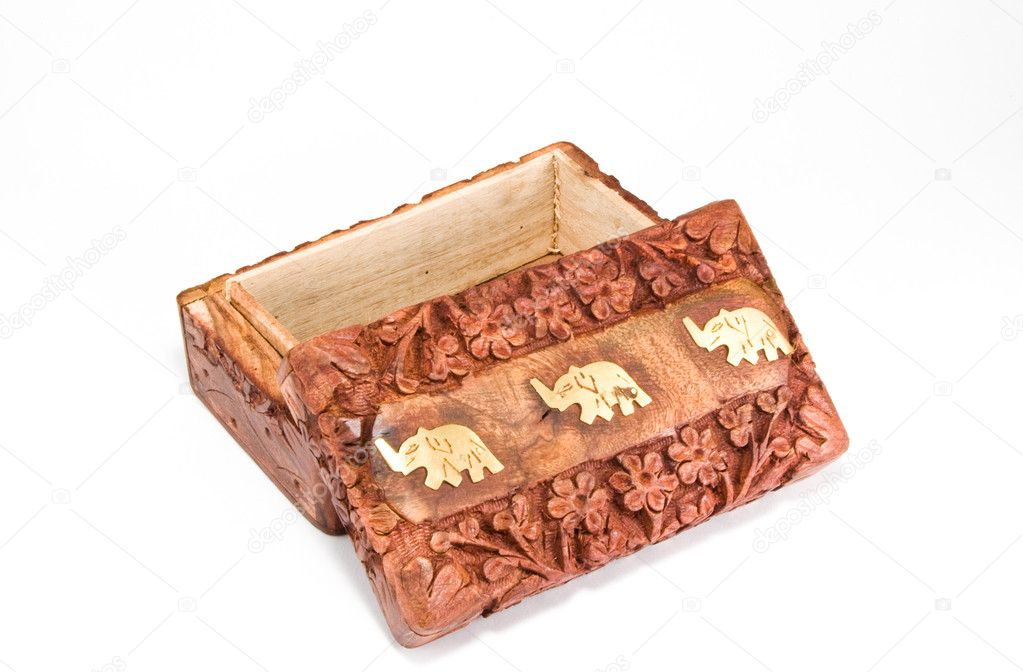 Wooden box on a white background — Stock Photo #3032059