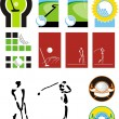 Symbols for a golf — Stock Vector