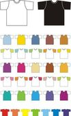 Multi-coloured T-shirts — Stock Vector