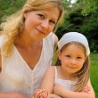 Young mother and daughter - Easter — Stock Photo #2756672