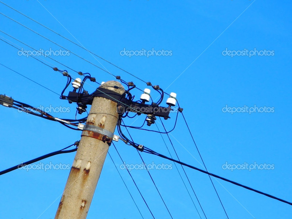 Old  power pole — Stock Photo #2757064