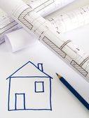 Architectural sketch of house plan — Foto Stock