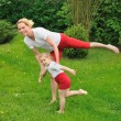Stock Photo: Mother and daughter - training