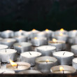 Prayer candles in church — Stock Photo