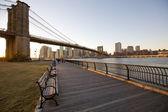 Brooklyn bridge in new york city — Stockfoto