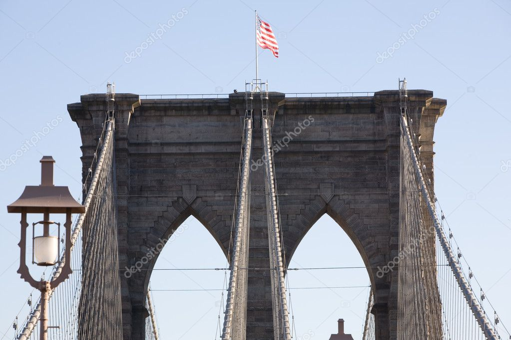Brooklyn Bridge in New York City  Stock Photo #3192701