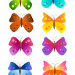Rainbow butterflies — Stock Vector