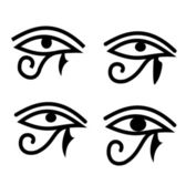 Eye of Horus - old Egyptian symbol — Stock Photo