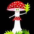 Red amanita — Stock Vector