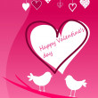 Stock Vector: Valentine´s day greeting card