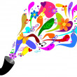 Stock Photo: Colorful music
