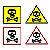 Warning symbols — Stock Vector