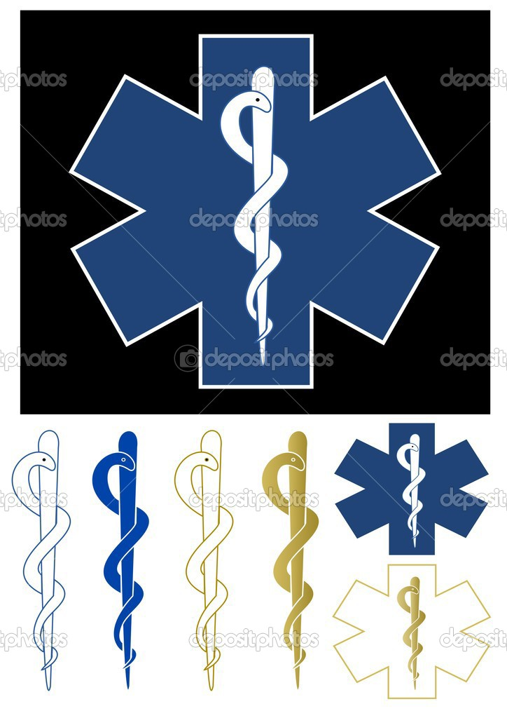 Set of medical symbols - Star of life — Stock Vector #3664931