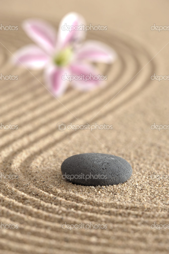 Zen garden in sand — Stock Photo #2980371
