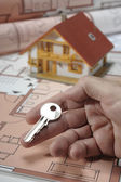 Model house and key — Stock Photo