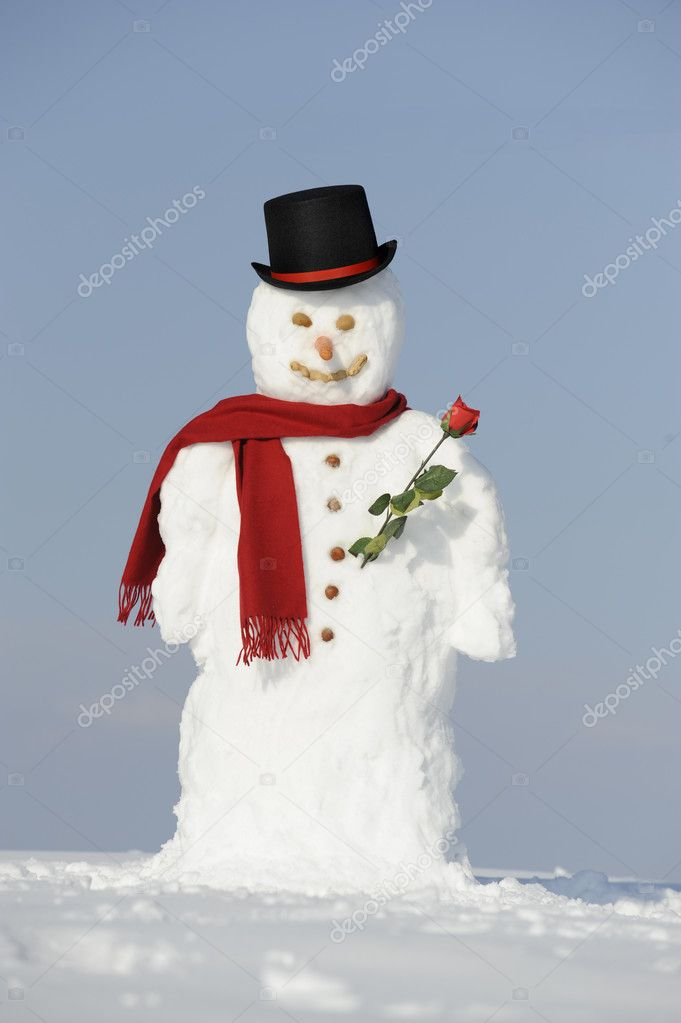 Snowman as gentleman — Stock Photo #3465758