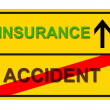 Accident insurance - Stock Photo