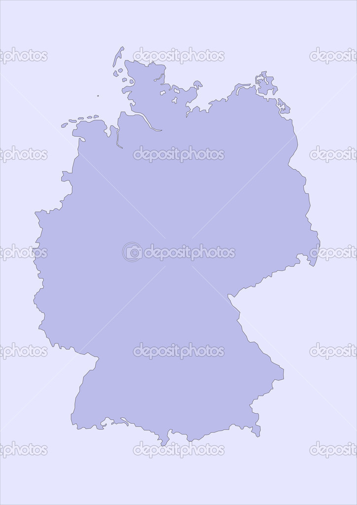 Map of germany — Stock Photo #3662743