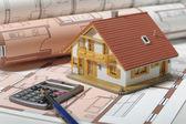 Architecture house plan — Stock Photo
