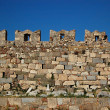 Stock Photo: Castle wall battlements of Kos Castl