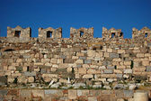 The castle wall battlements of Kos Castl — Stock Photo