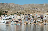 The harbour of the Greek island of Kalym — Stock Photo