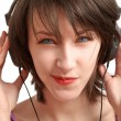 Girl with headphones — Stock Photo #2920435