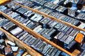 Old fonts — Stock Photo