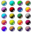 Round web buttons assorted colors — Imagen vectorial