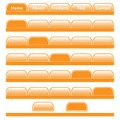 Web buttons navigation bars set — Stock Vector