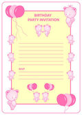 Childs birthday party invitation card — Stock Vector