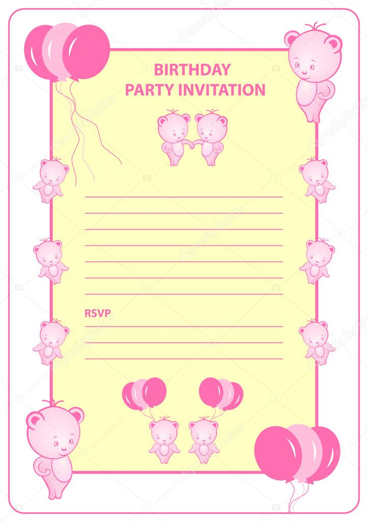 Party Invitation Sayings Party Invitation Card With