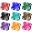 Square web buttons angled - Stock Vector