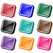 Square web buttons angled — Stock Vector