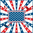 Stock vektor: American flag background stars and stripes