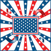 American flag background stars and stripes — 图库矢量图片