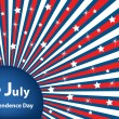 4 July independence day stars and stripes — Stockvektor