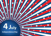 4 July independence day stars and stripes — Vector de stock