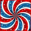 American flag stars and swirly stripes - Stock Vector