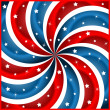 Stock Vector: Americflag stars and swirly stripes