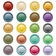 Web buttons assorted colors — Stock Vector