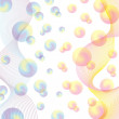 Vector de stock : Abstract background, subtle colored spheres.